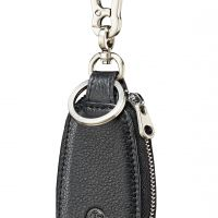Mens Fred Bennett Stainless Steel Leather Keyring Y2622