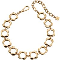 Ladies Orla Kiely Gold Plated Open Flower Choker Necklace N4159