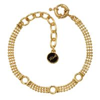 femme Karl Lagerfeld Jewellery Ball Chain Charm Bracelet Watch 5378148