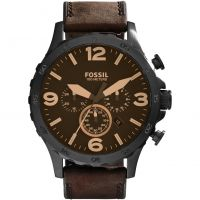 homme Fossil Nate Chronograph Watch JR1487