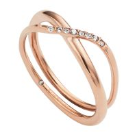 Damen Fossil Rose vergoldet RING