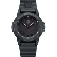 Herren Luminox 0320 Serie Giant Leatherback Meer Schildkröte Blackout Uhren
