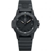 Herren Luminox 0300 Serie Leatherback Meer Schildkröte Blackout Uhren