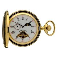 Taschenuhr Mount Royal Half Hunter Sun Moon Pocket Watch MR-B31P