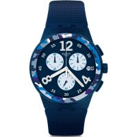 Unisex Swatch Camoblu Chronograph Watch