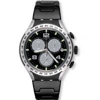 Unisex Swatch Nacht Attack Chronograf Uhren