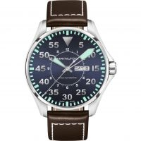 Hamilton Khaki Aviation Pilot Herenhorloge Bruin H64715545