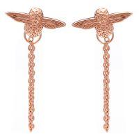 femme Olivia Burton Jewellery Sterling Silver Moulded Bee Chain Earrings Watch OBJ16AME05