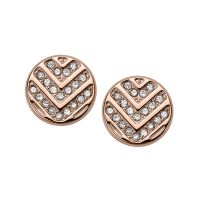 Ladies Fossil Rose Gold Plated Earrings JF02745791