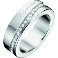 Ladies Calvin Klein Stainless Steel Size P Hook Ring KJ06MR040208
