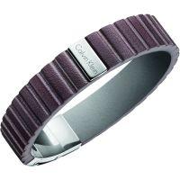 homme Calvin Klein Jewellery Plate Leather Bracelet Watch KJ5SCB090100