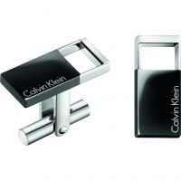 Mens Calvin Klein Stainless Steel Hollow Cufflinks