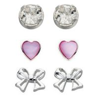 Damen Elemente Sterlingsilber Stud Ohrring Set
