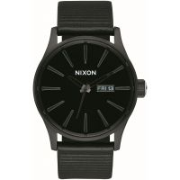 Nixon The Sentry Leather Herenhorloge Zwart A105-1147