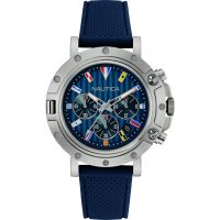 Mens Nautica NST800 Flag Chronograph Watch NAD17530G