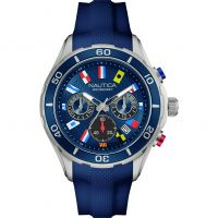 Mens Nautica NST12 Flag Chronograph Watch NAD16534G