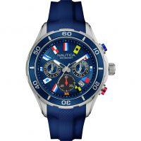 Herren Nautica NST12 Flag Chronograph Watch NAD16534G