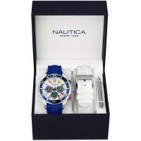 Herren Nautica NST07 Flag Box Set Chronograph Watch NAD18530G