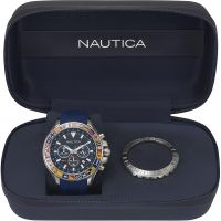 Mens Nautica Bali Box Set Chronograph Watch NAPBLI001