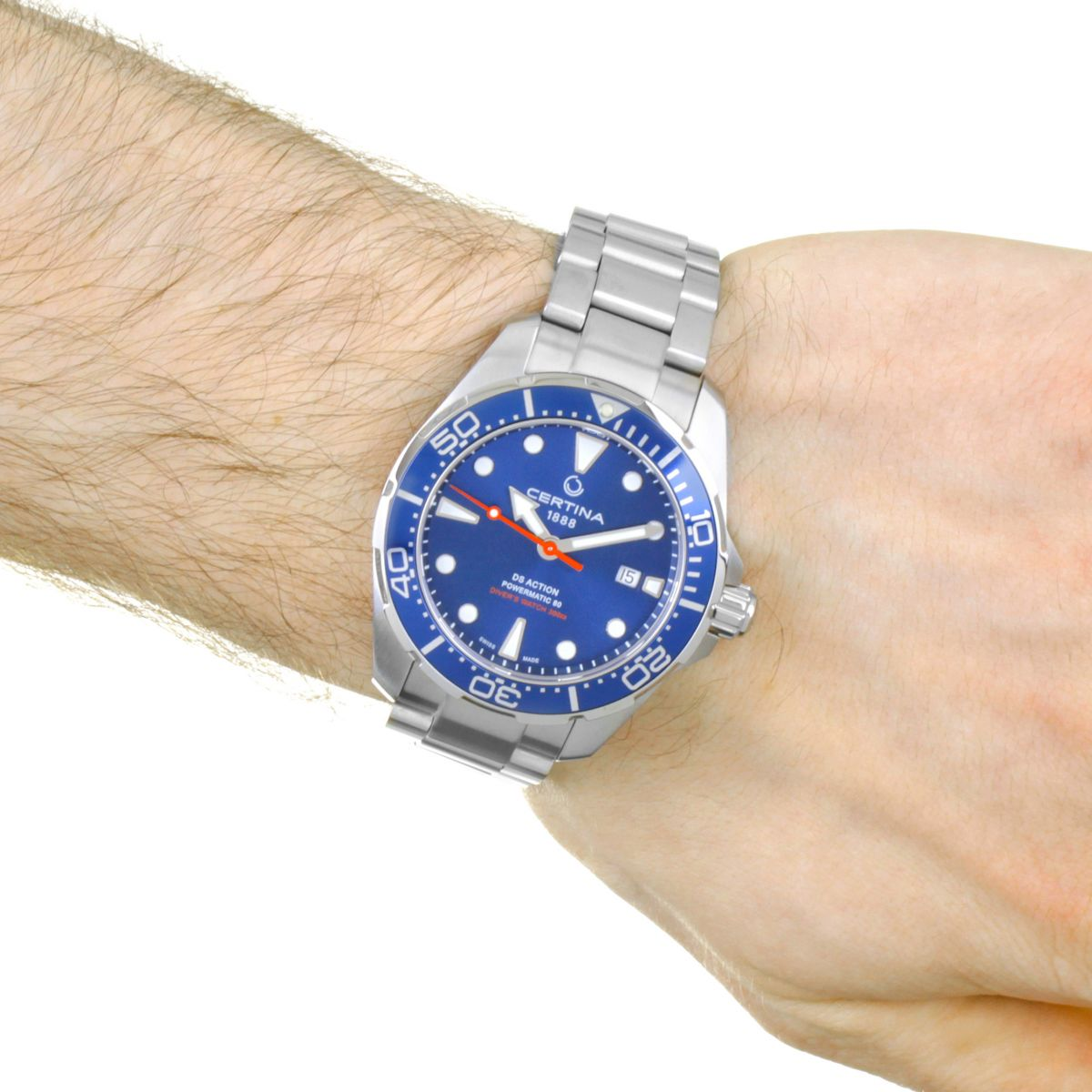 gents certina ds action diver powermatic 80 watch