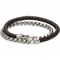 Unique & Co and Leather Double Wrap Bracelet JEWEL