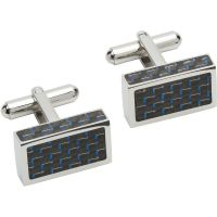 Unique & Co and Carbon Fibre Cufflinks JEWEL QC-227