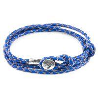 Anchor & Crew Blue Leather Dundee Bracelet JEWEL AC.DO.DUN
