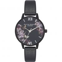 Damen Olivia Burton After Dark Black & Black IP Watch OB16AD22