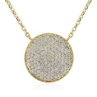 Jewellery Pave set CZ Necklet 17 inches/43cm JEWEL