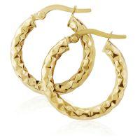 Jewellery Hammered Hoop Earrings JEWEL ER907