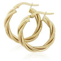 Jewellery Twist Hoop Earrings JEWEL ER916
