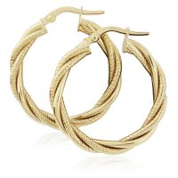 Jewellery Twist Hoop Earrings JEWEL ER917