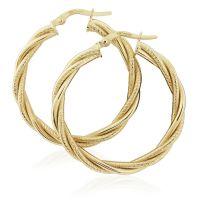 Jewellery Twist Hoop Earrings JEWEL ER918