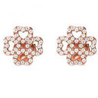 femme Folli Follie Jewellery Sterling Silver Miss H4H CZ Stud Earrings Watch 5040.3030
