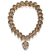 femme Fiorelli Jewellery Heart Charm Bracelet Watch XB4274