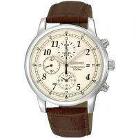 Herren Seiko Chronograph Watch SNDC31P1