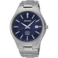 Mens Seiko Solar Titanium Solar Powered Watch