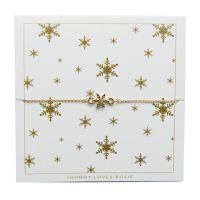 Johnny Loves Rosie Jewellery Snowflake Bracelet JEWEL JLRCARD1