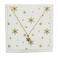 femme Johnny Loves Rosie Jewellery Snowflake Necklace Watch JLRCARD4