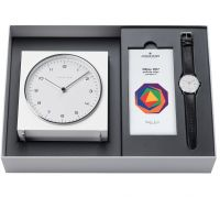 Mens Junghans Max Bill 2017 Edition Clock Gift Set Alarm