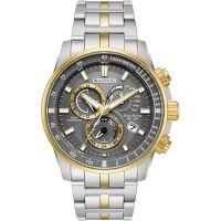 Mens Citizen Chrono Perpetual A-T Alarm Chronograph Eco-Drive Watch