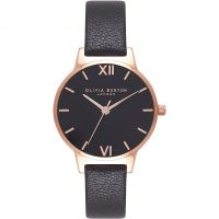 Damen Olivia Burton Black Dial Sunray Watch OB16MD83