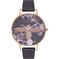 Ladies Olivia Burton Embroidered Dial Watch