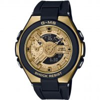 femme Casio G-Ms Glamorous Gold Alarm Chronograph Watch MSG-400G-1A2ER