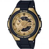Damen Casio G-Ms Glamorous Gold Alarm Chronograph Watch MSG-400G-1A2ER