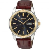 Mens Seiko Solar Powered Watch SNE102P9