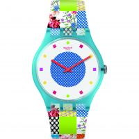 Swatch Quilted Time Unisex horloge SUOS108