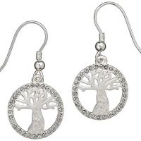 Ladies Harry Potter Sterling Silver Crystal Whomping Willow Earrings HPSE003