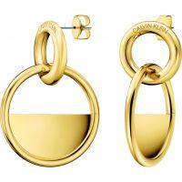 femme Calvin Klein Jewellery Locked Earrings Watch KJ8GJE100100