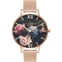 Damen Olivia Burton Dark Bouquet Watch OB16WG52